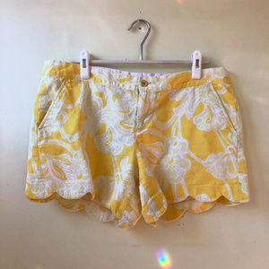 Lilly Pulitzer L/XL Buttercup Shorts Size 14